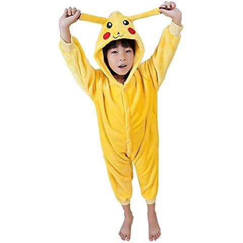 UDreamTime I bambini Homewear Pigiama Tutina animale Cosplay - Giallo Flanella