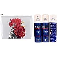 Preisvergleich für NOBITE Kleidung Spray Sparpack/ Doppelpack: 2 x 100 ml in schöner Tigapaw ® Waschtasche