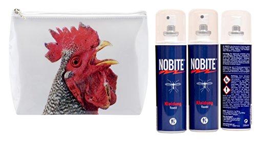 NOBITE Spray für Kleidung, Sparpack, Doppelpack, 2 x 100 ml in schöner gratis Waschtasche von Tigapaw ® (Insektenschutz Für Kleidung)