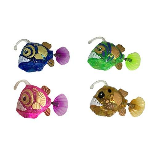 TOYMYTOY Kinder Roboter Fische Elektronische Spielzeug Blinkende Badewannen Tiere 4 Stücke