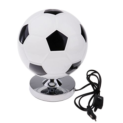 Baoblaze creativo footable pallone da calcio scrivania lampada da tavolo camera da letto decor 220 v eu plug