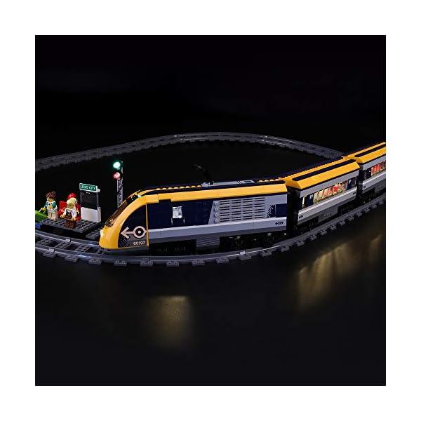LIGHTAILING Set di Luci per (City Treno Passeggeri) Modello da Costruire - Kit Luce LED Compatibile con Lego 60197 (Non… 5 spesavip