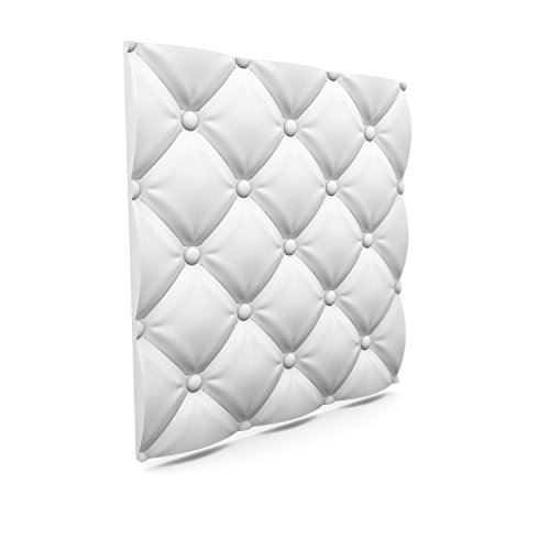 Price comparison product image Luxury 3D Wall and Ceiling Panel Pillows 60cm x 60cm Decorative Tile Cladding (20 Panels (7.2 m²))