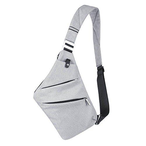 Sling petto borsa crossbody one-shoulder outdoor sport preferito antifurto per il tempo libero pacchetto leggero zaino multifunzione, a due colori disponibili (grigio)