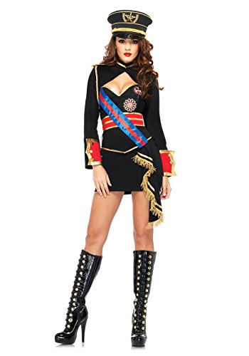 Leg Avenue 85296 - Diva Dictator Kostüm Set, 4-teilig, Größe S, schwarz (Womens Militärische Kostüme)