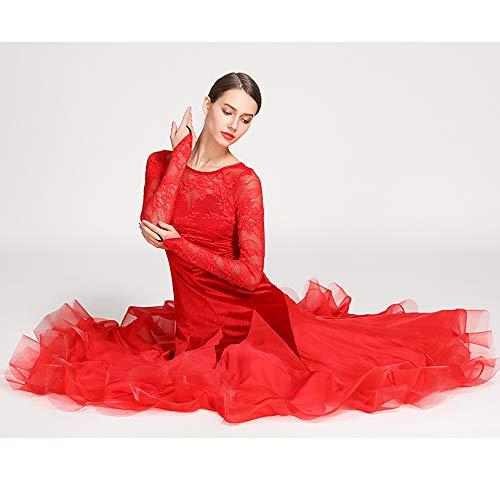 r Mädchen Kleider ausgefallenes Kleid für Erwachsene Latin Dance Kleid Praxis Praxis Kostüm Gatsby Kleid Frauen 1920er Art Deco Party Plus Größe XL 2XL,XXL ()