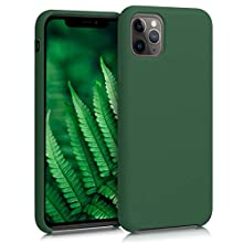 kwmobile Cover compatibile con Apple iPhone 11 Pro Max - Custodia in silicone TPU - Back Case protezione cellulare verde scuro