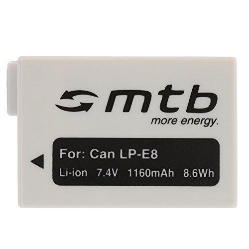 Ersatz-Akku LP-E8 [1160mAh | 7.4V | Li-Ion] für Canon EOS 550D, 600D, 650D, 700D / Rebel T2i, T3i, T4i, T5i