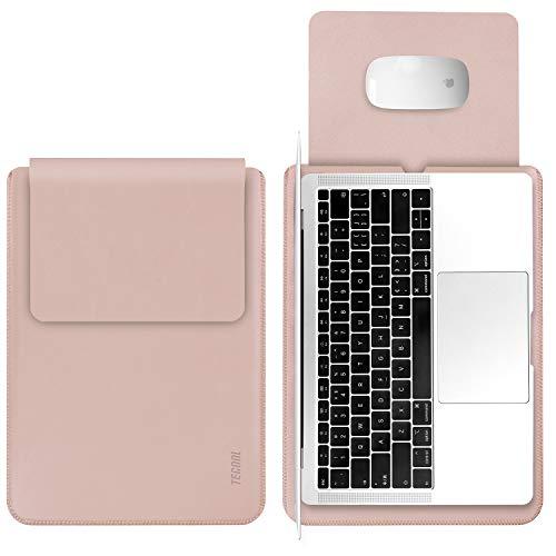 TECOOL Laptop Hülle 13 Zoll Tasche, Laptop Sleeve Kunstleder Schutzhülle Case für MacBook Air/Pro Retina 13,3