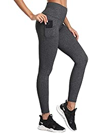 f7f845e150818 SIMIYA High Waist Leggings, Womens Running Tights With Pockets Power  Stretch Yoga Pants Slim Fit