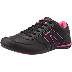 Sparx Women's Black and Pink Running Shoes - 5UK (SX0078L)