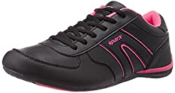 Sparx Womens Black and Pink Running Shoes - 4UK (SX0078L)