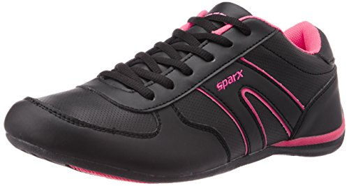 Sparx Women's Black and Pink Running Shoes - 7UK/41EU (SX0078L)