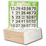 500 Los cartones de bingo 25/75