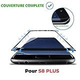 SAGPAD Verre trempé pour Samsung Galaxy S8 Plus Noir intégral 3D incurvé Garanti 2...