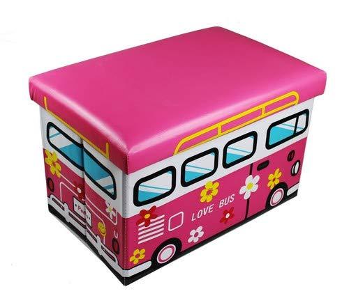 GMMH Sgabello Amore Bus Pieghevole Originale Toy Box Toy Chest Toy Box Storage Box Sgabello Pieghevole