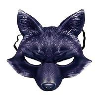 Amosfun-Fuchs-Maske-Halbes-Gesicht-Tier-Maske-Fuchs-Cosplay-Maske-Halloween-Cosplay-Kostm-Zubehr-fr-Halloween-Karneval-Maskerade-Party-Supplies Amosfun Fuchs Maske Halbes Gesicht Tier Maske Fuchs Cosplay Maske Halloween Cosplay Kostüm Zubehör für Halloween Karneval Maskerade Party Supplies -