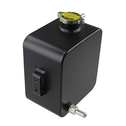 Primecooling universale alluminio radiatore refrigerante overflow serbatoio & tappo a pressione, 2.5litri (nero)