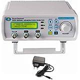 Befaith Generador de fuente de señal de doble canal digital de alta precisión DDS Medidor de frecuencia de onda arbitraria 200MSa / s 6MHz