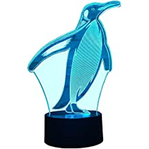 FZAI-Neuheit-Noten-Tabellen-Schreibtisch-Lampen-Ausgangsdekoration 7 Farben-einzigartige Beleuchtungseffekte f/ür fantastisches Geschenk der Kinder Nette Pinguin-Illusion-Licht-LED-Nachtlichter