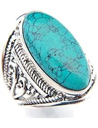 dacdc8a0376 Amazon.fr   argent - Turquoise   Bagues   Femme   Bijoux
