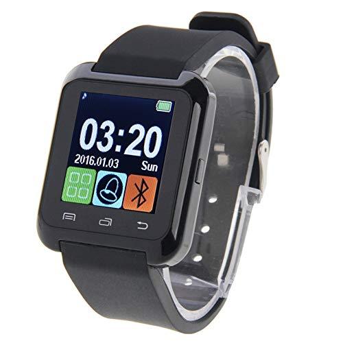 ALLSHOPSTOCK (#117) Bluetooth Health Smart Guardare 1.5 pollici LCD Schermo per Android Cellulare, Supporto Telefono Call(Nero)