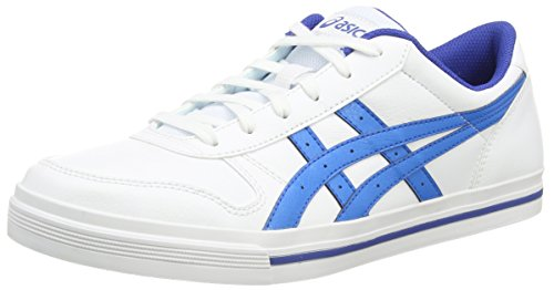 ASICS - Aaron, Sneakers Basse da unisex - adulto, bianco (white/blue aster 0147), 40
