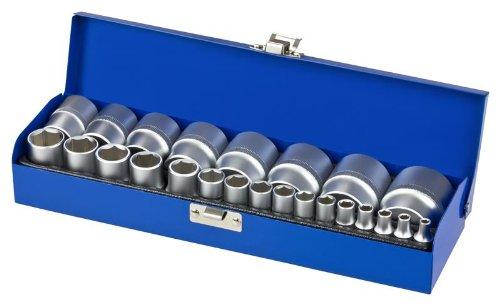 Zoll Werkzeug Steckschlüsseleinsätze 1/4\' und 1/2\' Antrieb Set 24 tlg.