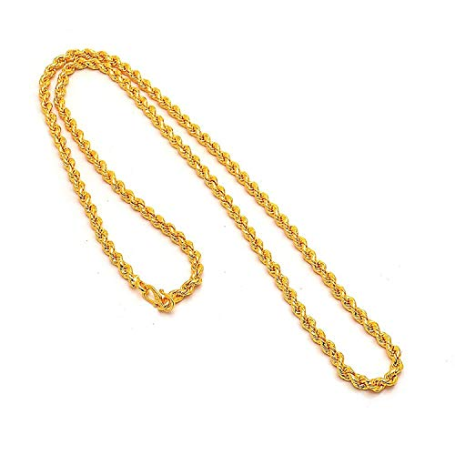 WMC JEWELS One Gram Gold Plated Multi Stands Round Gold Necklace Chain for Men Women & Girls (Unisex)