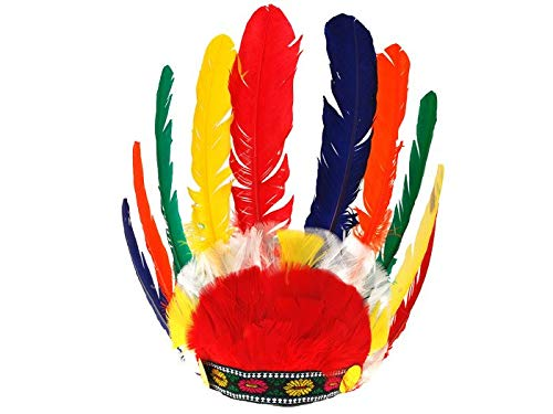 BSD Kinder Kostüm - Indianer Feder Warbonnet Kopfschmuck