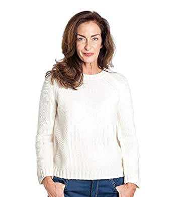 6ad7aefe2326 Wool Overs Pull épais Point Mousse - Femme - Laine d agneau  Amazon ...