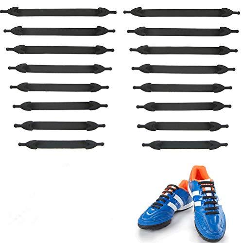 BUYGOO 20PCS Elastisch Silikon Schnürsenkel Ohne Binden - Flach Wasserdicht Schleifenlos Schnürsenkel für Kinder & Erwachsene, No Tie Shoelaces für Sneaker Stiefel Brettschuhe Freizeitschuhe