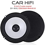 Best Car Door Speakers - ePathChina® 2pcs 6 Inch 120W Car HiFi Coaxial Review