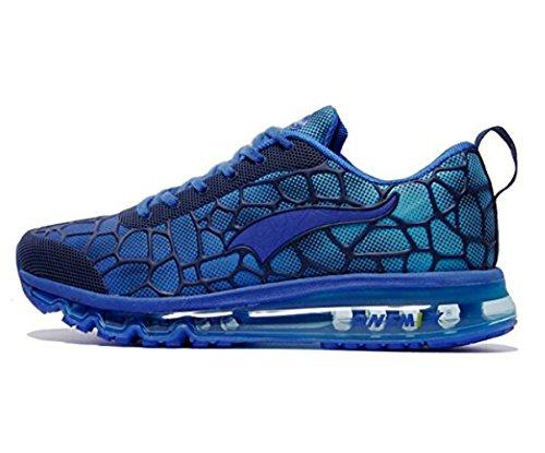 Onemix Air Uomo Scarpe da Ginnastica Corsa Sportive Running Sneakers Fitness Interior Casual all'Aperto Blu reale dimensione 47 EU
