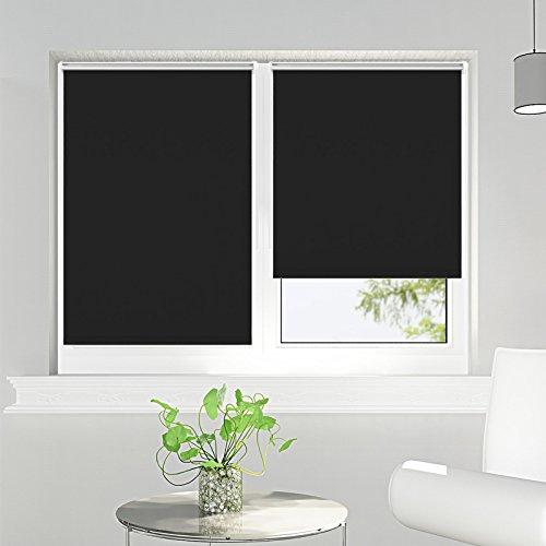 Tenda a rullo oscurante per finestra rullo oscuranti termica montabile senza viti 60x150cm nero