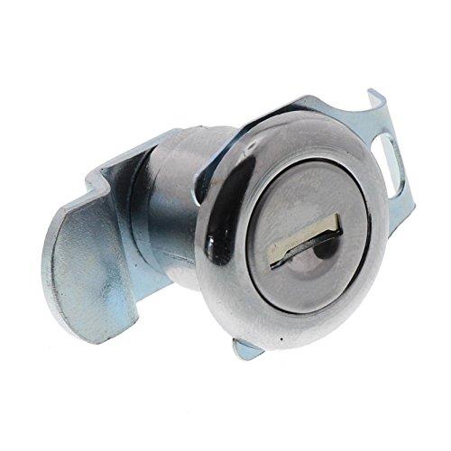 Zylinder-befestigung (Burg-Wächter Ersatzzylinder für Briefkästen, Hebelschloss, für Materialstärke von 1 bis 2 mm, verchromt, ZBK 71 SB, 1 Stück)