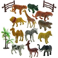 FLYmart Wild Animals Figure | Best for Action |Trending Animals Set of 12 Wildlife Model Children Puzzle Early Education…