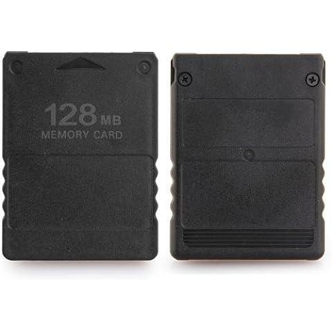 Dcolor Tarjeta de Memoria 128MB para Playstation PS2 Compatible Negro Nuevo