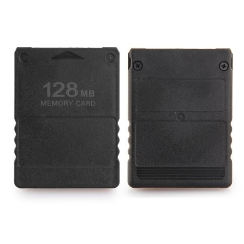 Dcolor 128MB Memory Card for Sony PlayStation 2 PS2 128M Black