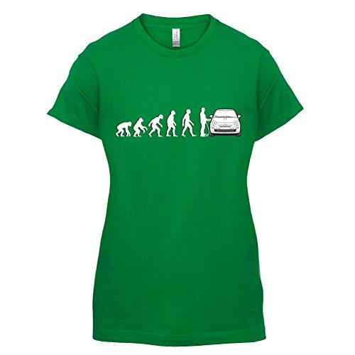 Evolution of Man - Fiat 500 Fahrer - Damen T-Shirt - 14 Farben Grün