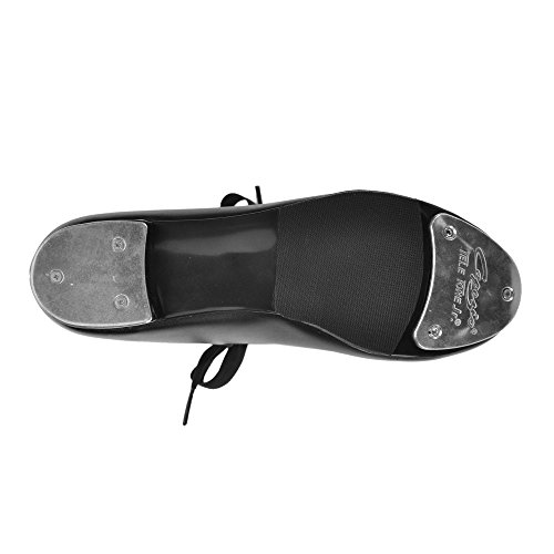 Capezio 925 White Touch Chaussures Talon Bas Moyen Fit Noir