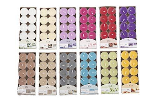 Invero - Velas aromáticas de Colores Mezclados (120 Unidades, Ideal para Salones, pasillos, Cocina, salón y más)