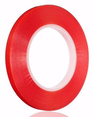 d Sticky Tape Doppelseitiges Klebeband PET Klebeband Leistungsstarke Tape Geeignet für Fernseher und Autos und so weiter rot ()
