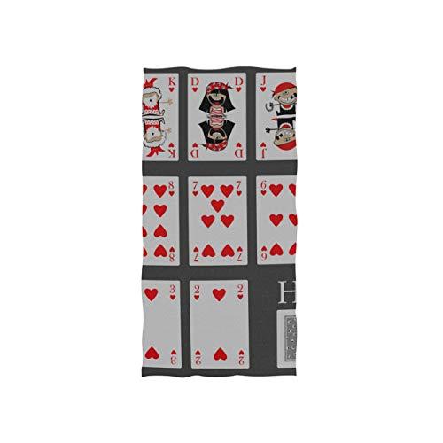 Einfache Unterhaltung Spielkarten Soft Spa Badetuch Fingerspitze Handtuch Waschlappen Für Baby Erwachsene Badezimmer Strand Dusche Wrap Hotel Travel Gym Sport 30x15 Zoll