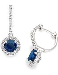 Diamond Manufacturers - Boucles d'Oreilles Femme avec 52 diamanten - Or blanc 750/1000 (18 cts)