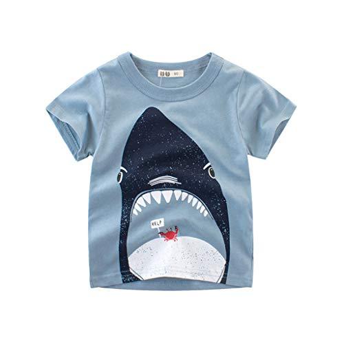 BURFLY Kleinkind Baby Kind Junge Baumwolle solide Polo t-Shirt Hemd Kleidung Boy Cartoon Druck Kurzarm t-Shirt