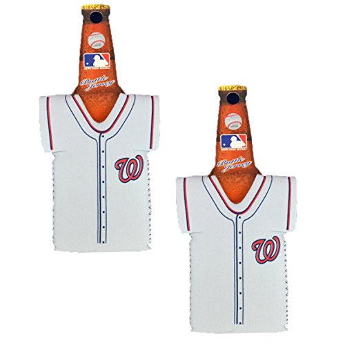 Offizielle Major League Baseball Fan Shop Authentic MLB 2er Pack isolierte Flasche Team Jersey Kühler, Washington Nationals