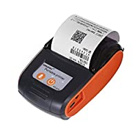 GOOJPRT PT-210 Portable Bluetooth mini Thermal Printer 58mm Receipt Printer WiFi Bluetooth Wireless Ticket Printer POS Ticket Printer Compatible IOS, Android and Windows with Conversion Plug