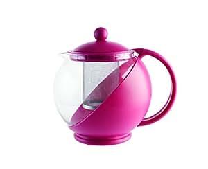 Quid Mint - teiera con filtro, 1250 ml, fucsia