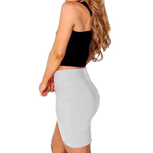 SUNNOW® Sexy Damen Röcke Kreuzgurte Enge Röcken Frauen Paket Hüft Rock Kurz Weiß